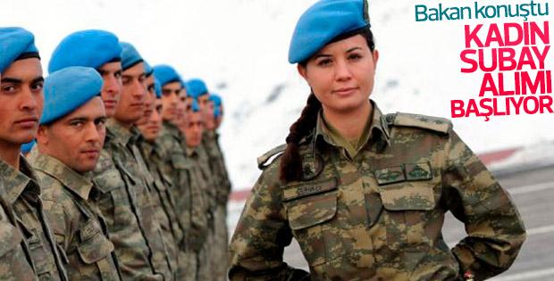 Kadın subay sınırlaması kalkıyor