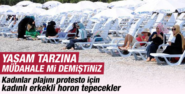 Kadınlar Plajı'na horonlu protesto