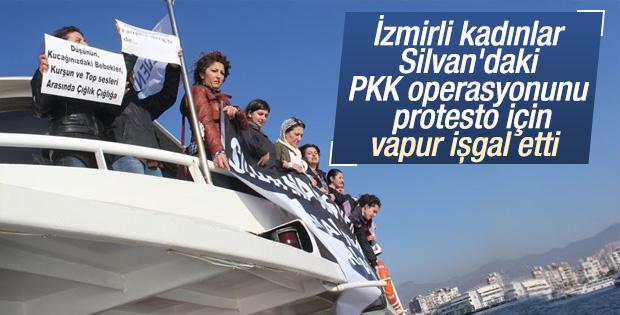 İzmir'de Silvan'ı protesto eylemi