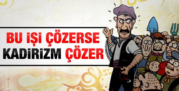 Habertürk Gazetesi'nin akil insanlar karikatürü