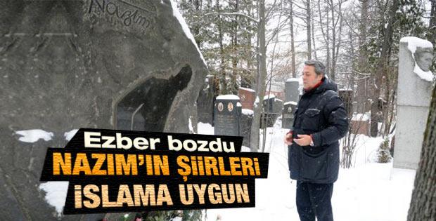 Kadir İnanır Rusya'da Nazım'ın mezarını ziyaret etti