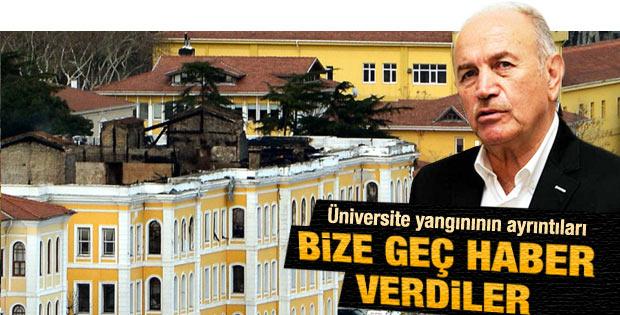 Topbaş'tan GSÜ yangını açıklaması