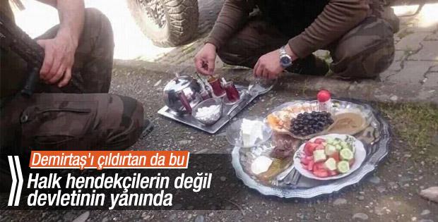 Terör operasyonlarında güvenlik güçlerine halk desteği