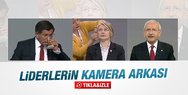 Parti liderlerinin kamera arkası görüntüleri