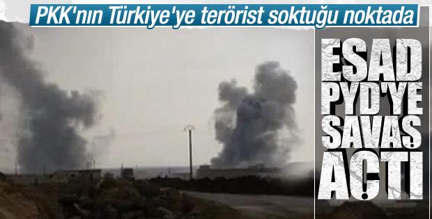 Kamışlı'da Esad-YPG çatışması