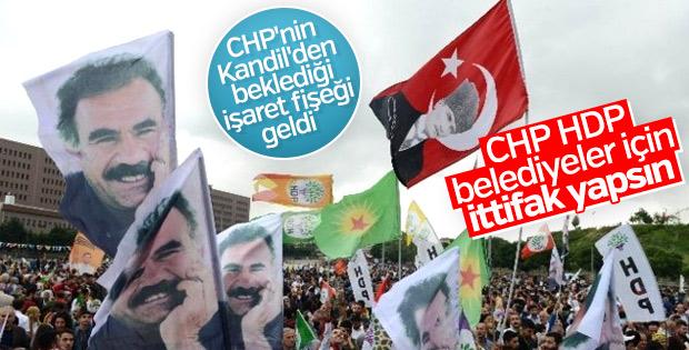 Terör örgütü PKK, CHP-HDP ittifakından yana