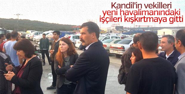 HDP, havaalanında provokasyon peşinde