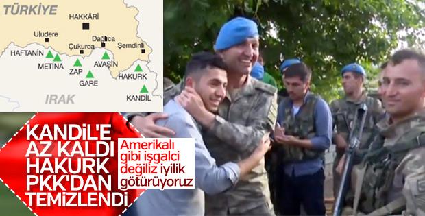 Mehmetçik Kuzey Irak'ta yardım dağıttı