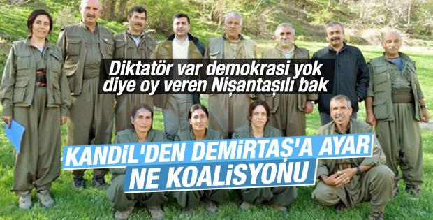 PKK'lı Duran Kalkan HDP koalisyona giremez dedi
