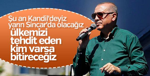 Cumhurbaşkanı Erdoğan Kandil operasyonunda kararlı
