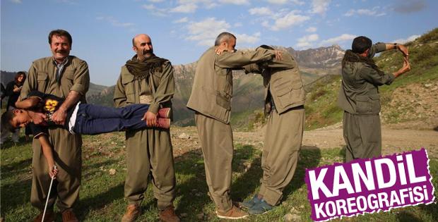 HDP'ye destek için Kandil koreografisi yaptılar