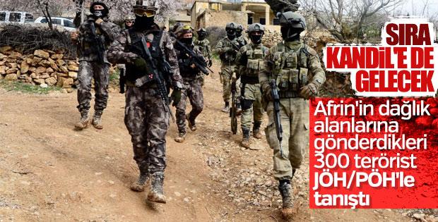 Kandil'den Afrin'e gönderilen teröristler öldürüldü