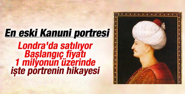 Kanuni'nin hiç bilinmeyen en eski portresi satışa çıkıyor