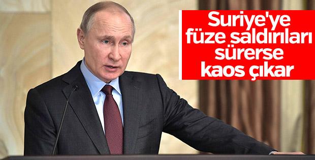 Putin'den Suriye uyarısı: Kaos çıkar