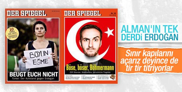 Der Spiegel Erdoğan'a hakaret eden komedyeni kapak yaptı