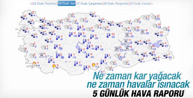 İstanbul'da hava sıcaklığı 7 derece artacak