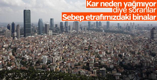 İstanbul'a kar yağmamasının nedeni binalar