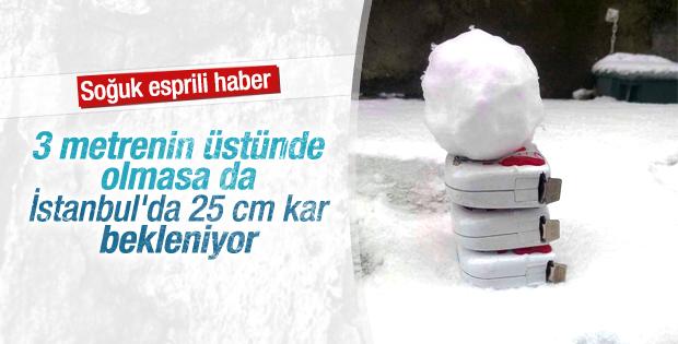 İstanbul'da 25 cm kar beklentisi