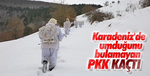 PKK, Karadeniz'de kış üstlenmesi yapamadı
