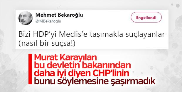 CHP'li Mehmet Bekaroğlu'nun HDP itirafı