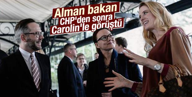 Alman Bakan Roth yemekte Carolin'le buluştu