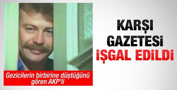 Karşı çalışanları kapatılan gazeteyi işgal etti