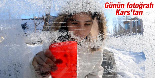 Kars'ta sıcaklıklar eksi 20 dereceyi buldu