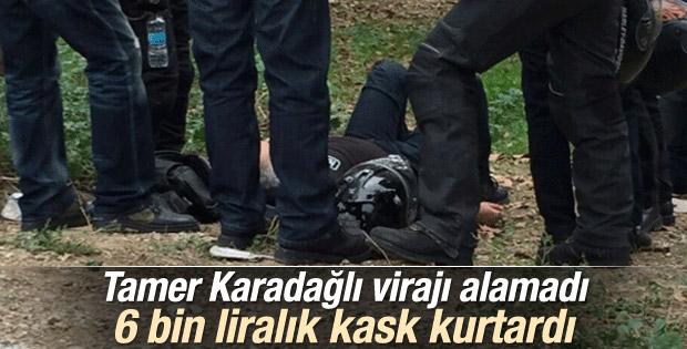 Tamer Karadağlı motosiklet kazası geçirdi İZLE