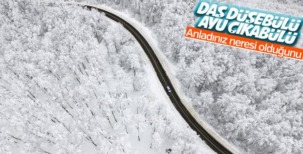 Kar yağışı Kastamonu'ya çok yakıştı