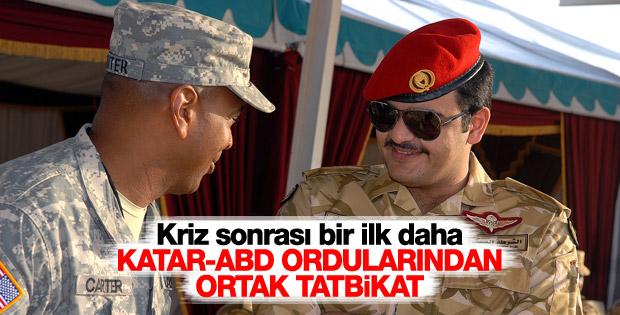 Katar ile ABD'den ortak tatbikat