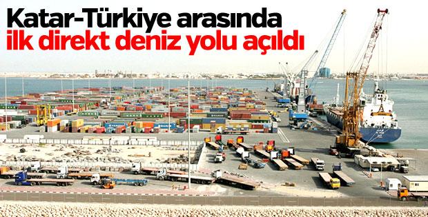 Katar ile Türkiye arasında ilk direkt deniz yolu hattı