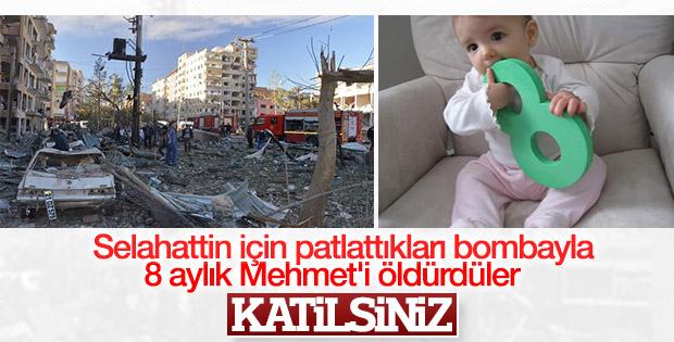 Diyarbakır'da PKK 8 aylık bebeği katletti