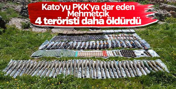 Kato bölgesinde 4 terörist daha öldürüldü