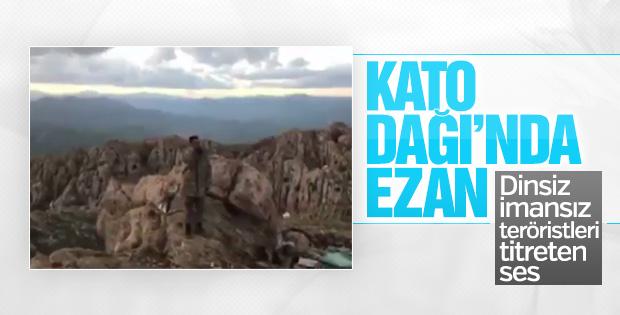 Mehmetçik Kato Dağı'nda akşam ezanı okudu