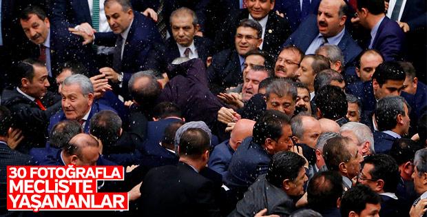 Meclis'te yaşanan arbedenin fotoğrafları
