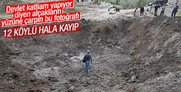 Patlama sonrası Tanışık Köyü'nden 12 kişi kayıp