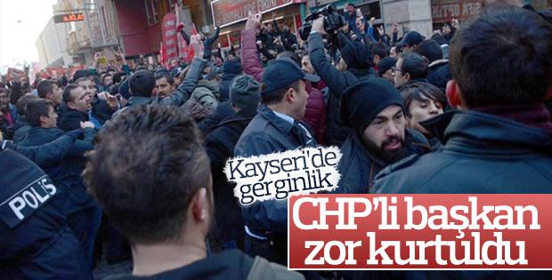 Kayseri'de CHP'li başkana saldırı