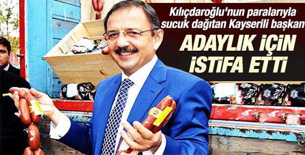 Kayserili başkan Mehmet Özhaseki istifa etti