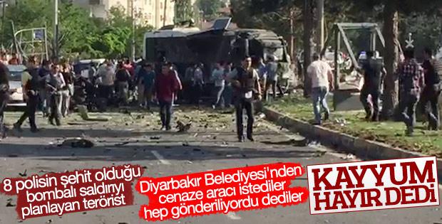 Diyarbakır Belediyesi terörist cenazesi hizmetini bitirdi