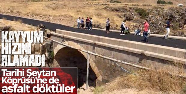 Van'daki Şeytan Köprüsü'ne asfalt döküldü