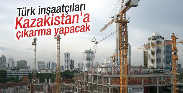 Türk inşaatçılardan Kazakistan'a çıkarma