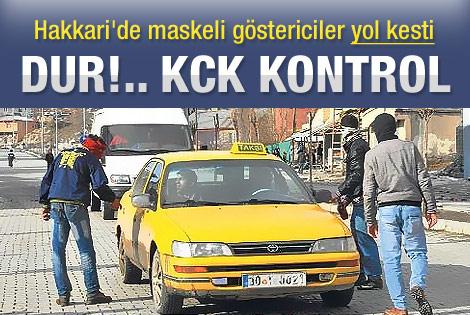 KCK yol kesti kimlik kontrolü yaptı