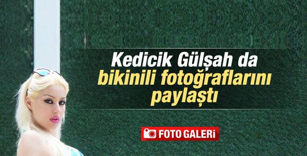 Kedicik Gülşah'tan bikinili fotoğraf