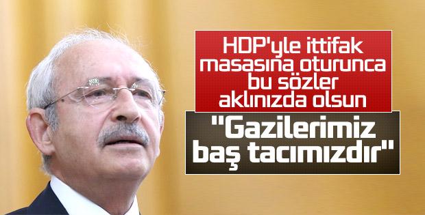 Kemal Kılıçdaroğlu, gazileri kabul etti