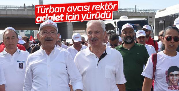 Kemal Alemdaroğlu Adalet Yürüyüşü'nde