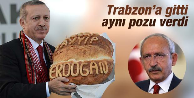 Kemal Kılıçdaroğlu'na Trabzon ekmeği hediye edildi