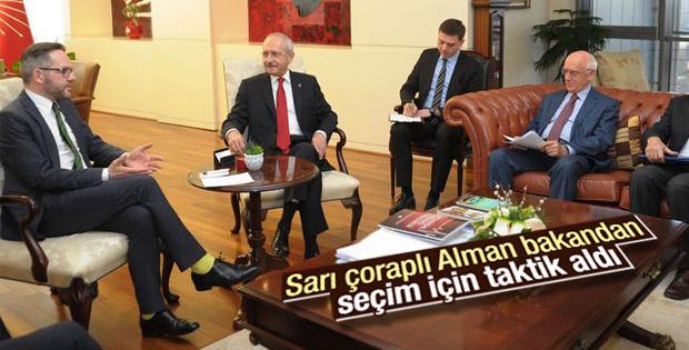 Alman Bakan Michael Roth Kılıçdaroğlu'nu ziyaret etti