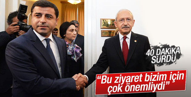 Kılıçdaroğlu Demirtaş'la görüşmesinin ardından konuştu