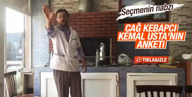 Seçmenin nabzı: Kebapçı Kemal Usta'nın anketi