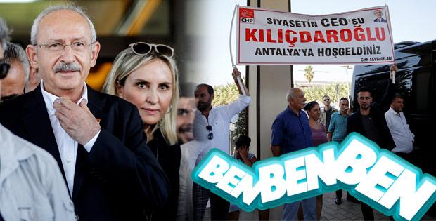 Kemal Kılıçdaroğlu'na Antalya'da coşkulu karşılama